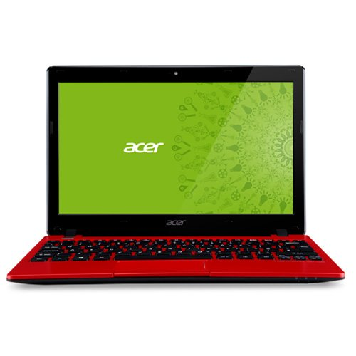 "Acer 11.6"" AO725-0687 Laptop PC with AMD Dual-Core C-70 Processor,Windows 8 Operating System-Red"