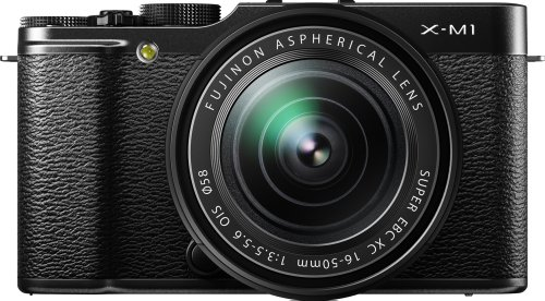 Fujifilm X-M1 Compact System 16MP Digital Camera Kit with 16-50mm Lens and 3-Inch LCD Screen (Black)